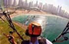 Volando sui magnifici scenari di Dubai