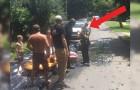 I vicini chiamano la polizia per uno scivolo abusivo ma le cose non vanno come speravano