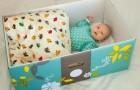 Die finnische Tradition, Babies in Kisten schlafen zu lassen, um den Tod in der Wiege zu vermeiden