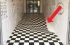 I proprietari del negozio volevano far rallentare i clienti: il pavimento che costruiscono è da capogiro!
