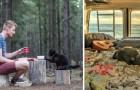 Deze jongen heeft alles achter zich gelaten en is gaan toeren met zijn kat in een caravan: de foto's zijn om bij weg te dromen