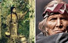 A man finds color photographs from 100 years ago! Here are Native Americans in all of their beauty ...