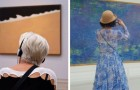 Il passe des heures dans les musées pour photographier des visiteurs en raccord avec les peintures: le résultat en vaut l'attente