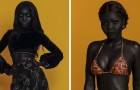 Her skin is so incredibly dark that she has been nicknamed the