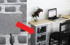 14 furniture ideas using common concrete blocks! You will be pleasantly surprised!
