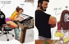 Een tekenaar en komiek zet zijn leven met zijn vrouw om in tekeningen