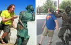 28 people who have used statues in captured images that are unforgettable
