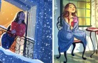 These 16 illustrations depict the happy life of those who choose to live alone!