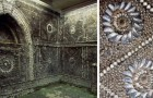 A farmer discovers an underground cave with its walls covered with seashell mosaics of uncertain origin