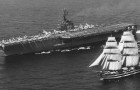 1962 traf ein US amerikanischer Flugzeugträger die Amerigo Vespuccu und zeigte eine Geste, die in die Geschichte einging