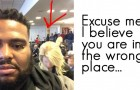 Sie glaubt nicht, dass er erste Klasse reist, denn er ist schwarz: Die Antwort des Mannes erntet Applaus