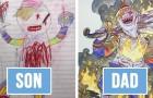 Pappa transformeert de krabbels van zijn zoon in cartoonpersonages: het resultaat is verrassend!