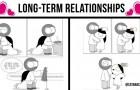 Diese Comics bilden die romantischen und unterhaltsamen Episoden von Langzeitbeziehungen ab