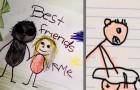 15 Zeichnungen, die Kinder in der Schule gemacht haben und die ihre Eltern geschockt haben