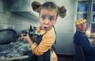 Ein Papa bearbeitet die Bilder seiner 4 Kinder digital und erschafft fantastische Meisterwerke