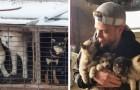 Dieser olympische Skifahrer hat 90 Hunde vor dem Schlachthof in Südkorea gerettet