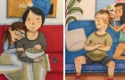 What happens in the home of a couple in love? These nice cartoons reveal it!