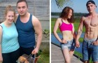17 couples who managed to get back into shape thanks to their mutual motivation!