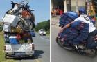 18 foto's van vervoermiddelen waarvan je niet geloofde dat het echt mogelijk was