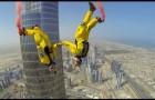 Base jump from the Burj Khalifa in Dubai