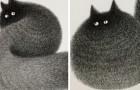 Un artiste malaisien n'utilise que des stylos à pointe fine pour créer ces chats poilus et le résultat est incroyable