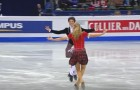 Brother and sister take the center of the rink and conquer the public with their unique performance