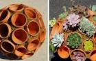 12 belles idées pour le jardin qui sont réalisées avec de simples pots en terre cuite.
