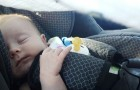 Trova la sua bambina in fin di vita dopo un viaggio in macchina e decide di fare un appello a tutti i genitori