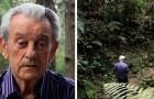 Hier für euch der Mann der mit seinen Händen 50.000 Bäume gepflanzt hat und jetzt in diesem Dschungel lebt