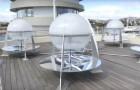 Questo apparato trasforma l'acqua di mare in acqua potabile con un processo semplice ed economico