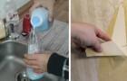 Ecco il semplice fai-da-te che rimuove la carta da parati senza lasciare residui