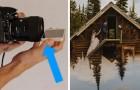 Appoggiando il proprio smartphone nella parte bassa dell'obiettivo, si possono realizzare delle foto