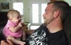 Zweimonatiges Baby sagt: I love you