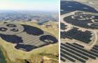 En Chine est née une centrale photovoltaïque géante en forme de panda... conçue par une jeune fille de 15 ans.