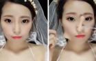 As imagens desta mulher antes e depois da maquiagem nos mostram o poder do make-up