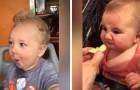Bambini che assaggiano cibi aspri per la prima volta: le loro reazioni sono uno spasso