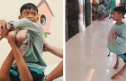He is 11 years old and his knees are bent backward --- but an operation has changed his life and way of walking!