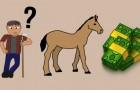 Van dit raadsel van de man en het paard werd iedereen op het internet gek. Kan jij het oplossen?
