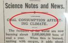 Dieser Zeitungsartikel von vor 106 Jahren warnte vor dem Klimawandel und erahnte die Zukunft