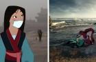 Disney-Figuren in der heutigen Welt: Die Zeichnungen dieses Künstlers kommen direkt in unser Gewissen