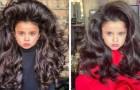 Dieses 5 Jahre alte Mädchen ist dank ihrer glänzenden Haare berühmt geworden