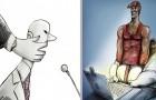 16 illustrations sombres décrivant certains drames de la vie moderne