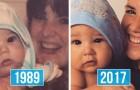 Photos de famille confrontées entre elles : la ressemblance entre parents et enfants est surréaliste