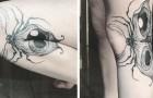 Questo artista crea dei tatuaggi che prendono vita con il movimento del corpo: guardateli in azione