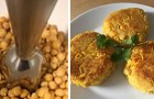 A simple recipe for chickpea burgers that is tasty, full of protein, and with very few calories!