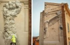 Questo artista italiano riesce a creare meravigliosi murales che sembrano bassorilievi