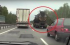 The scariest Russian truck you'll ever see on the road !!