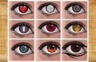 El test de los 9 ojos: elijan aquel que les atrae mas y descubran que cosa revela sobre vuestra personalidad