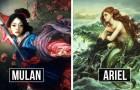 Ein Künstler stellt sich Disney-Charaktere als Ölbilder vor, und das Ergebnis ist ein Tagtraum.