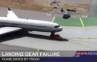 Pick-up hilft Flugzeug beim Landen
